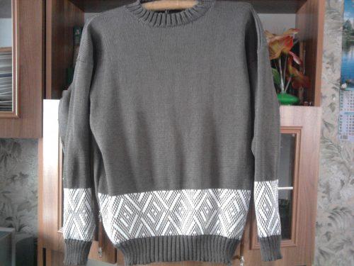 Машинное вязание модели: пуловер для сына