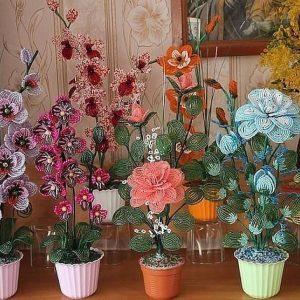 Выставка цветов из бисера