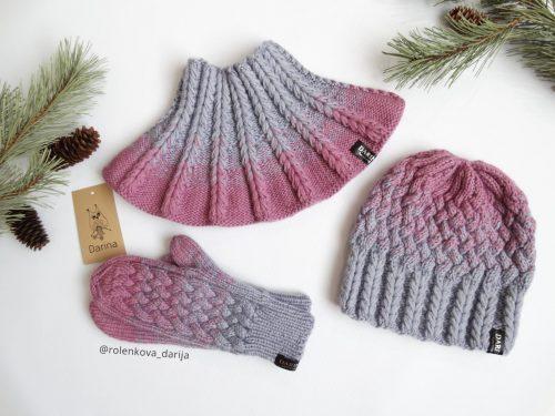 градиентная расцветка вязаного комплекта