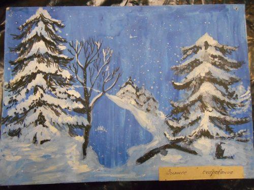 Пейзаж со снегопадом Киселёвой Майи.