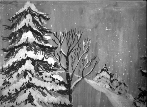 Пейзаж Киселевой Майи Зимнее очарование.