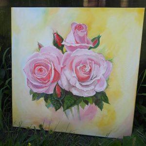 """Натюрморт """"Розы в золоте"""""""