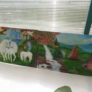 "Картина ""Единороги близ замка"""