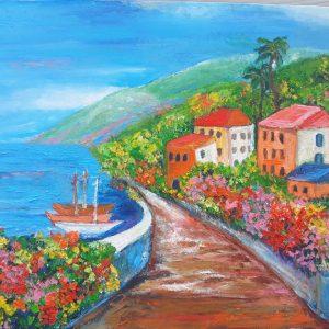 Киселёва Майя и её пейзаж на морскую тему