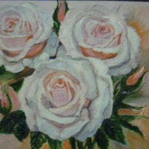 """""""Белые розы"""" - декоративный натюрморт"""