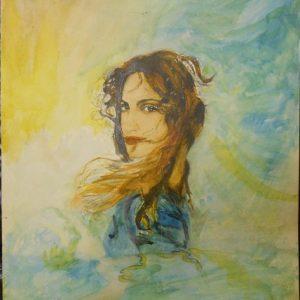 """""""Колдунья"""" М. Киселёвой —портрет певицы Мадонны."""