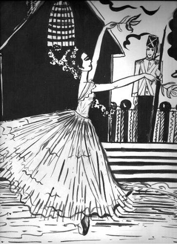 Майя Киселёва с иллюстрацией к сказке Андерсенаа