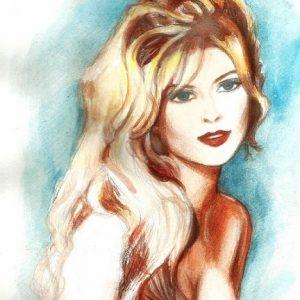 майя Киселёва. Поясной портрет женщины.ет