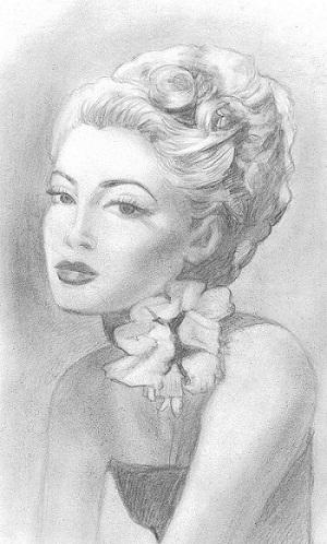 Майя Киселёва. Анжелика — карандашный портрет
