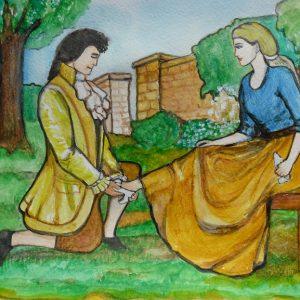 Принц и Золушка - сюжетная картина М. Киселёвой